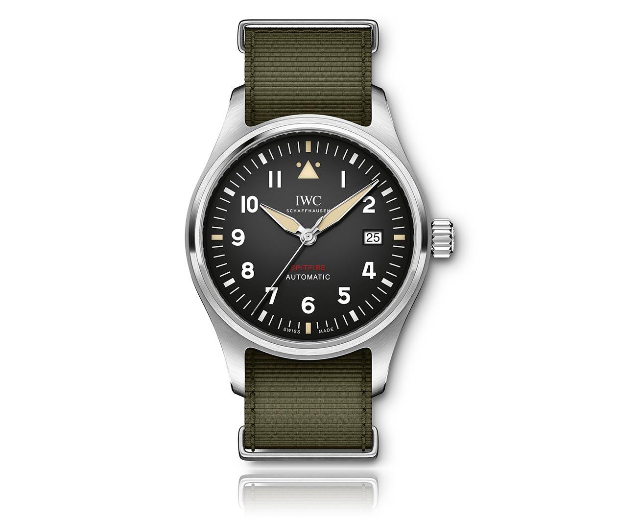 IWC PilotsWatch AutomaticSpitfire IW326801 Flatlay FINAL