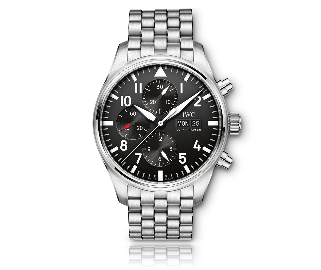 IWC PilotsWatch Chronograph IW377710 Flatlay FINAL