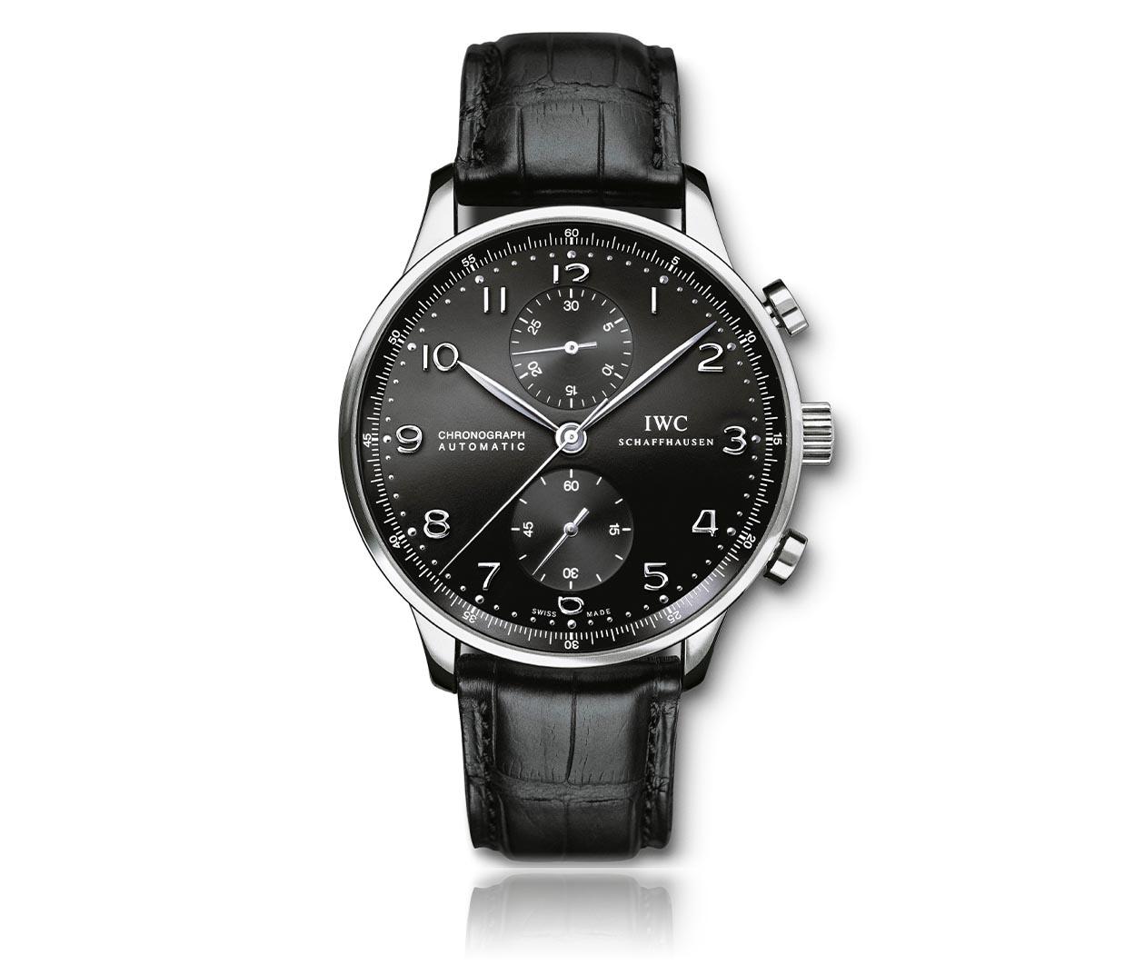 IWC Portuguese Chronograph IW371447 Flatlay FINAL