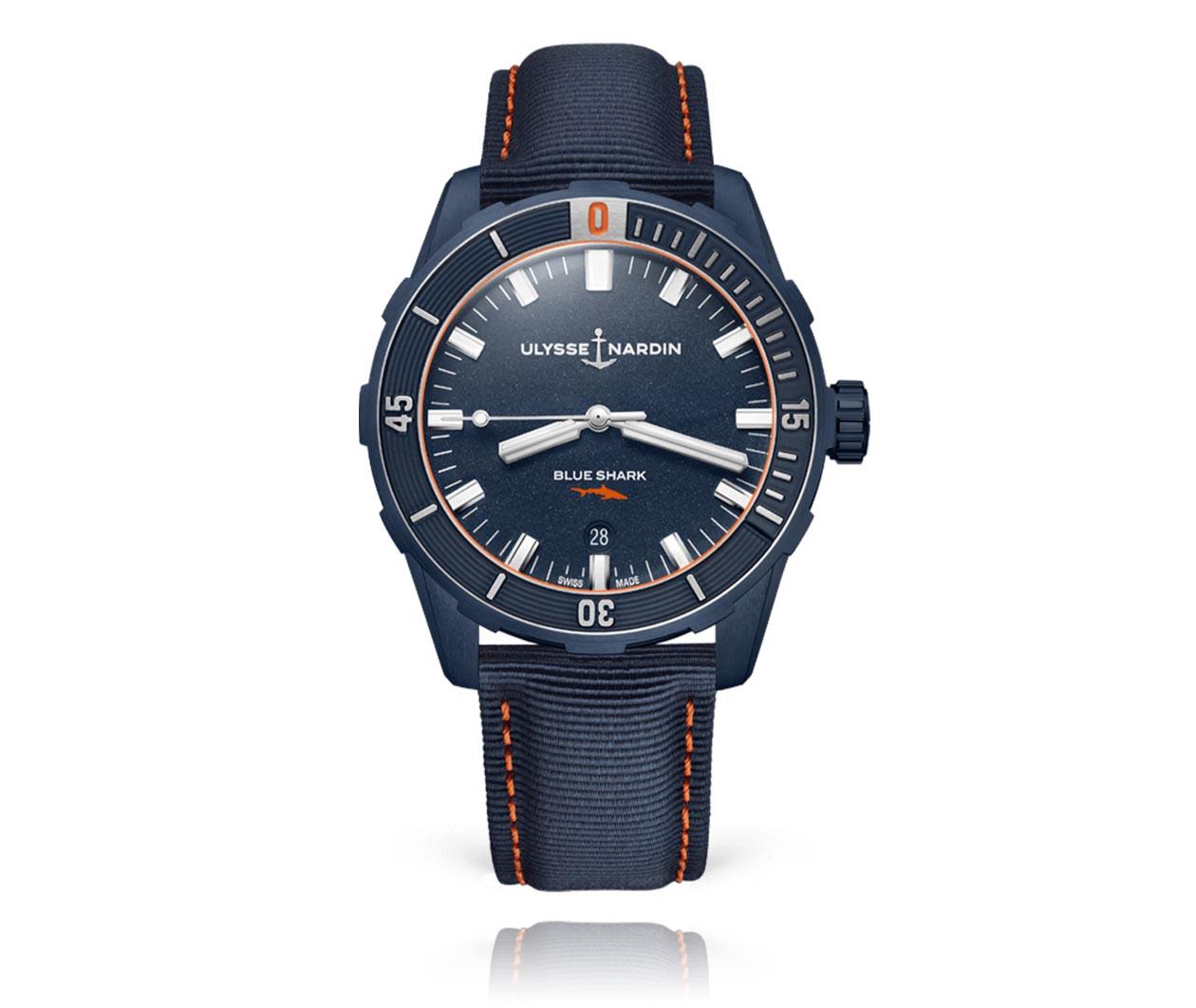 UlysseNardin Diver 42mm 8163175LE93BLUESHARK Flatlay FINAL