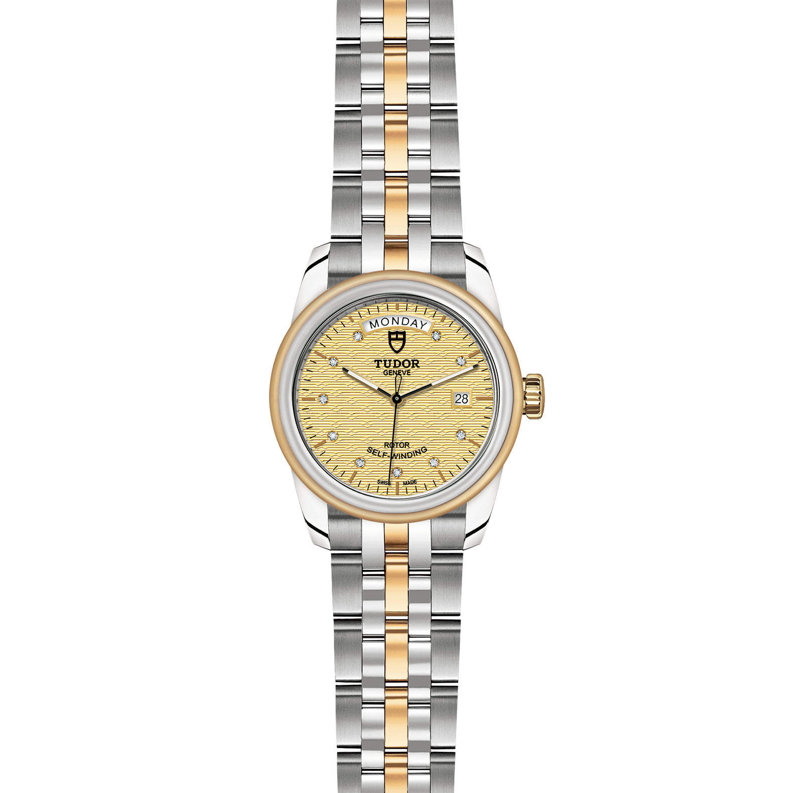 TUDOR Glamour Date Day M56003 0004 Frontfacing