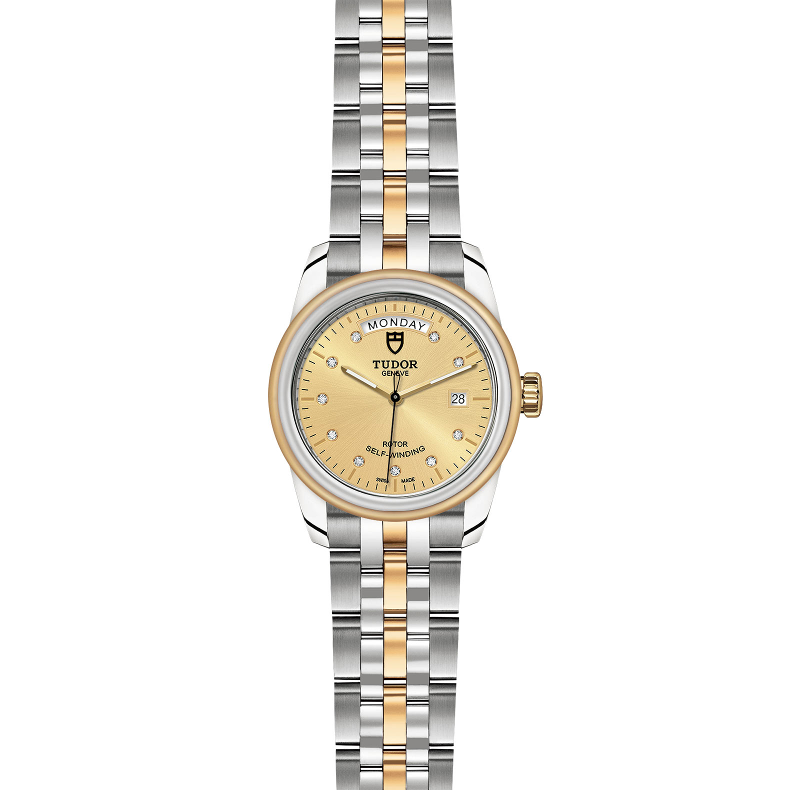 TUDOR Glamour Date Day M56003 0006 Frontfacing