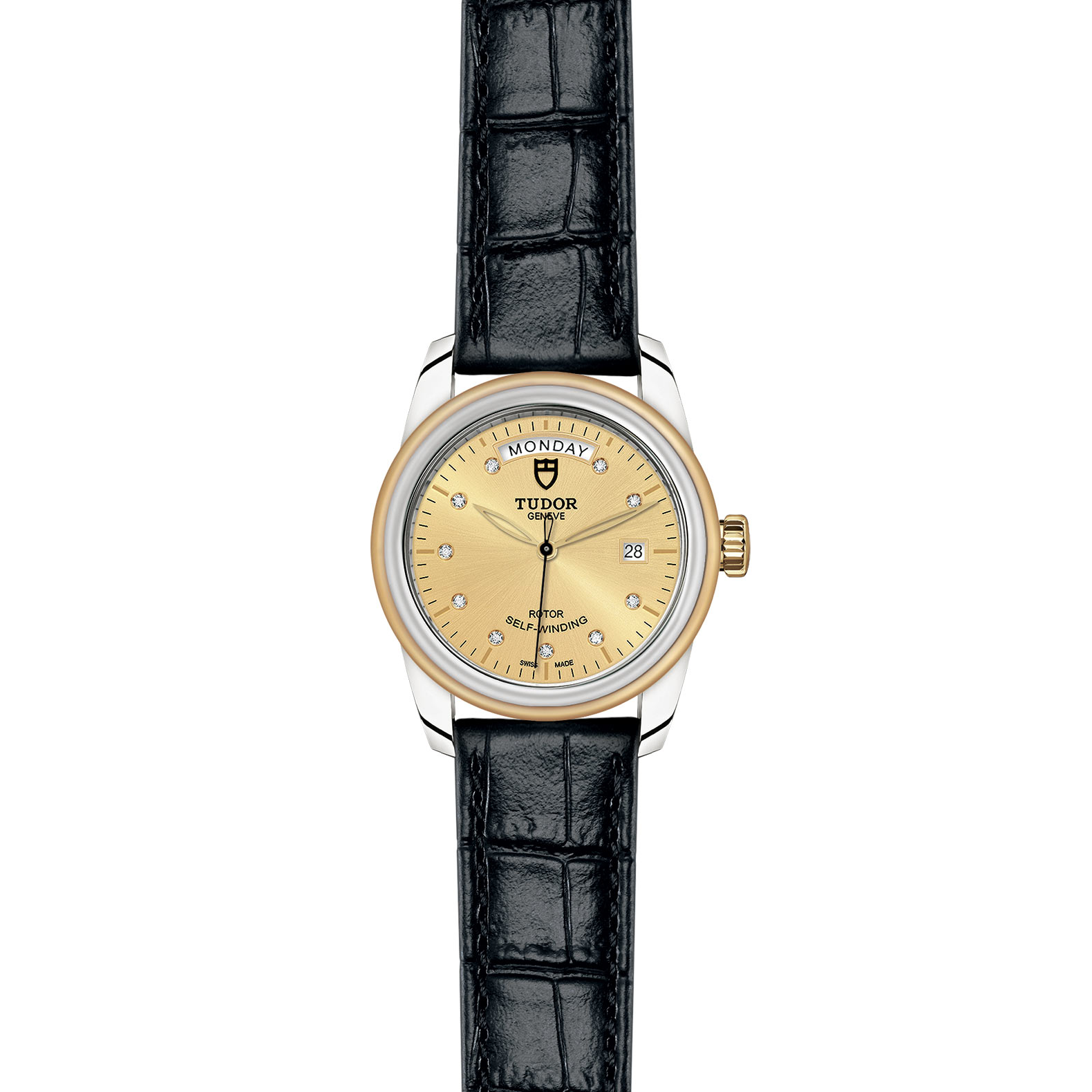 TUDOR Glamour Date Day M56003 0035 Frontfacing