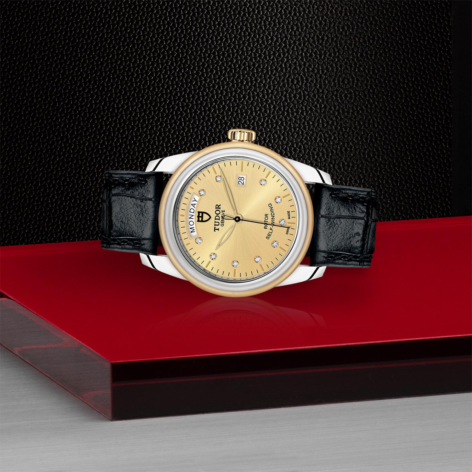 TUDOR Glamour Date Day M56003 0035 Layingdown