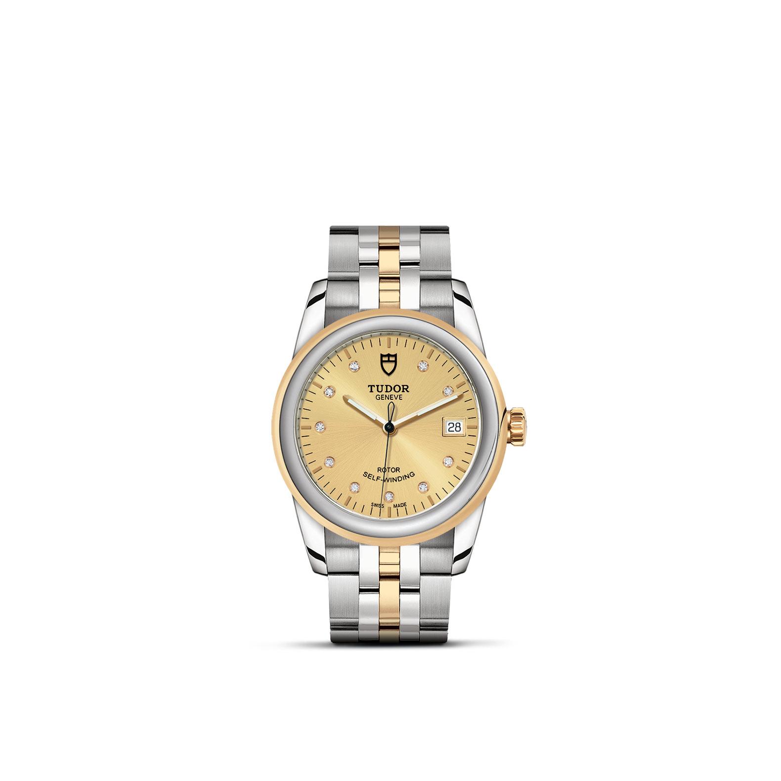 TUDOR Glamour Date M55003 0006 Upright