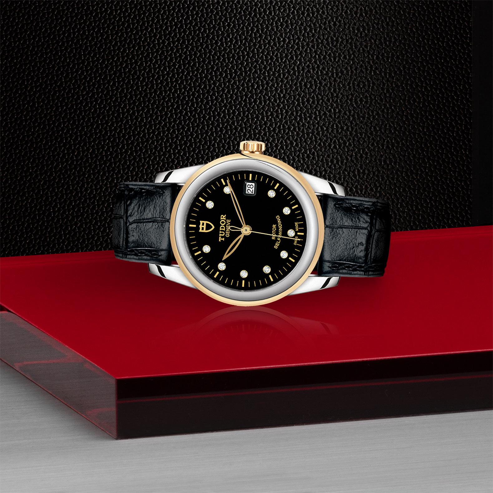 TUDOR Glamour Date M55003 0037 Layingdown