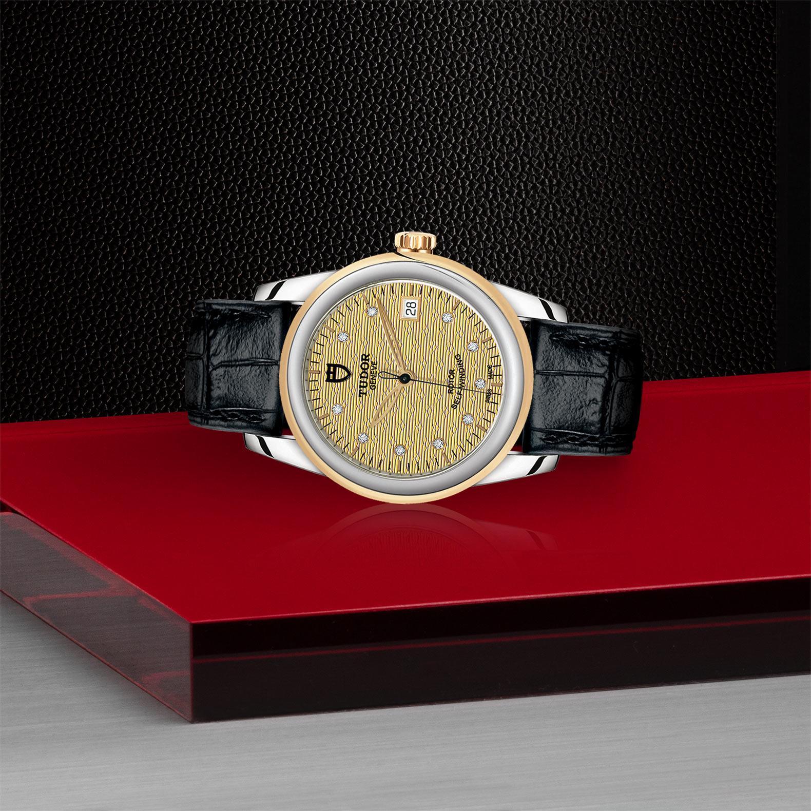 TUDOR Glamour Date M55003 0068 Layingdown