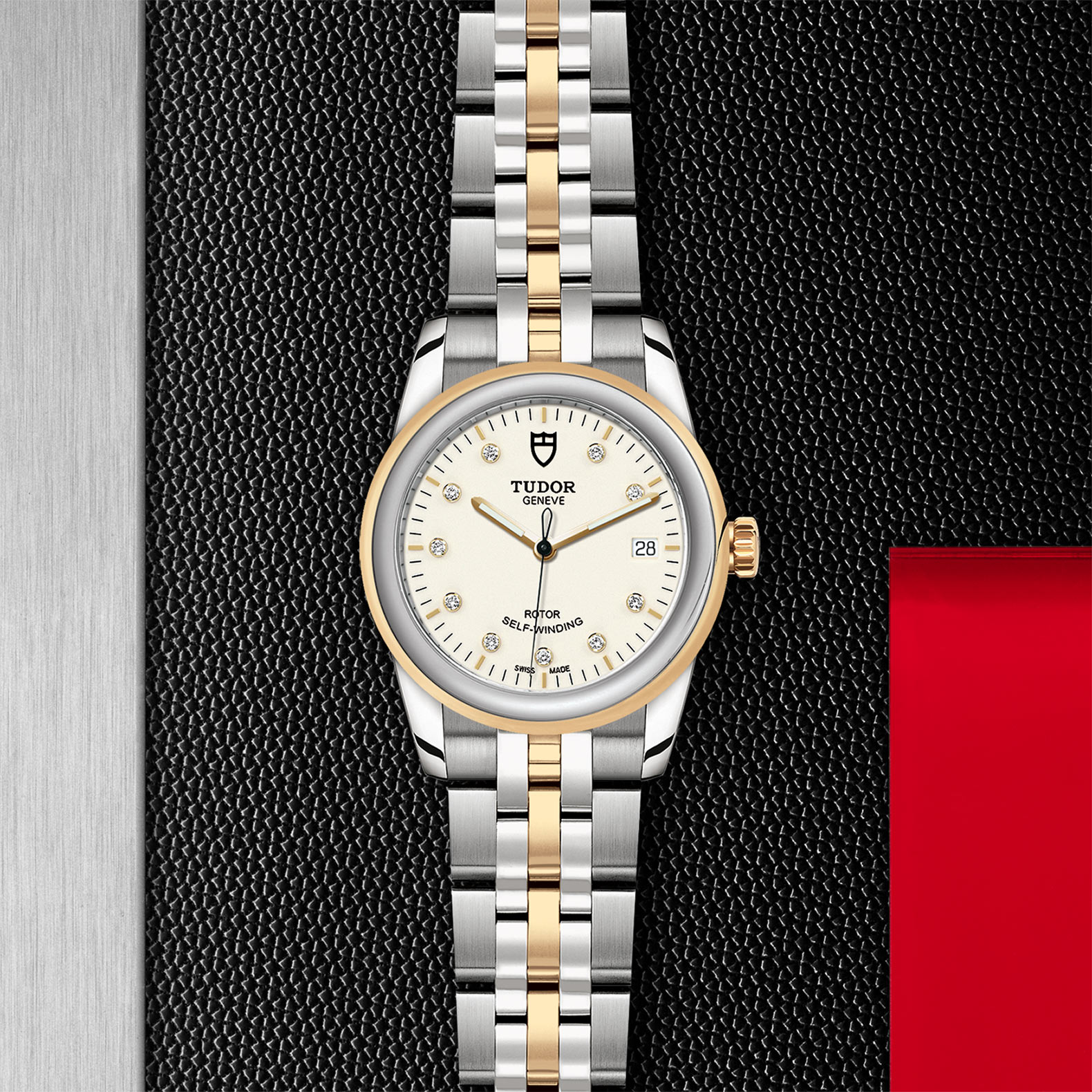 TUDOR Glamour Date M55003 0083 Flatlay