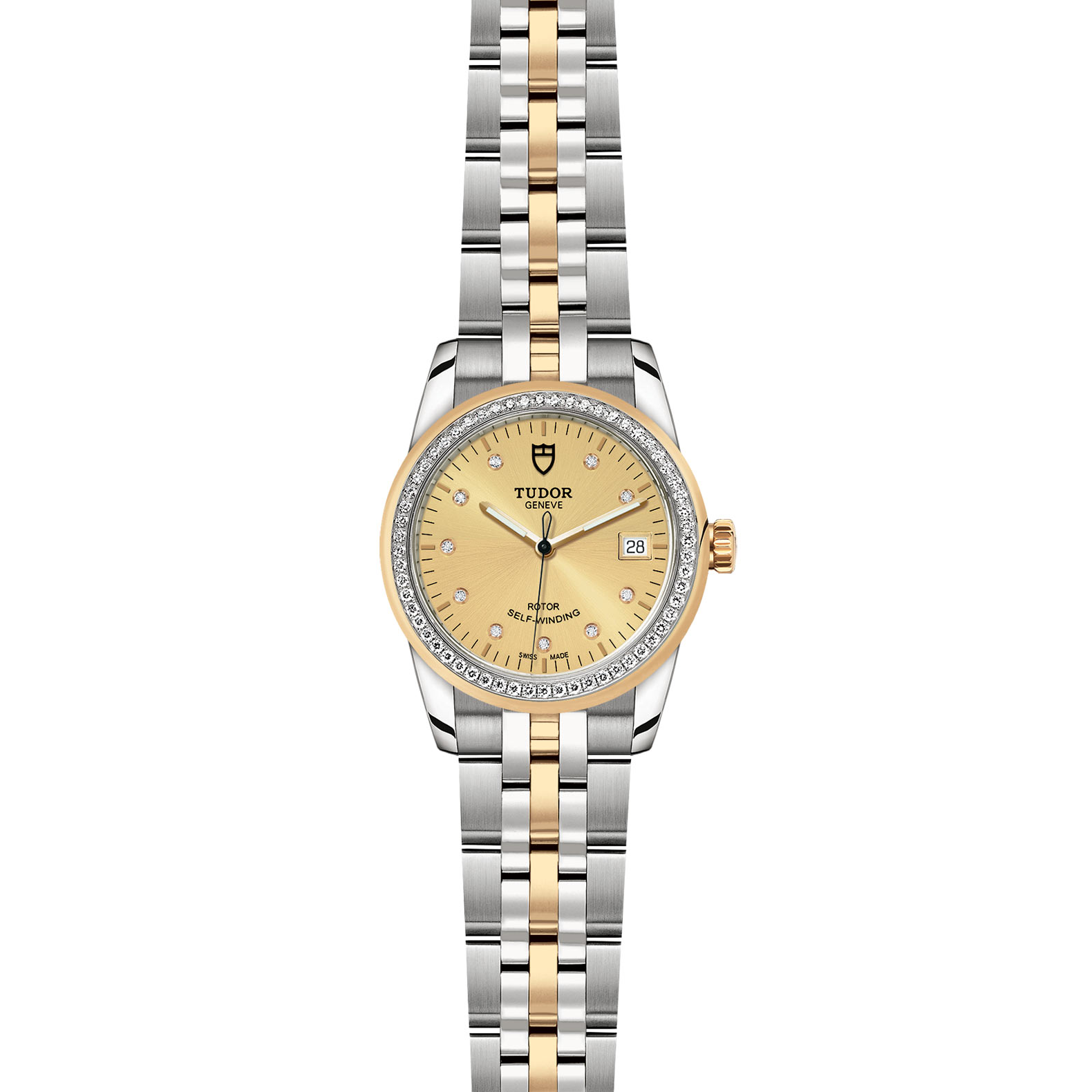TUDOR Glamour Date M55023 0026 Frontfacing
