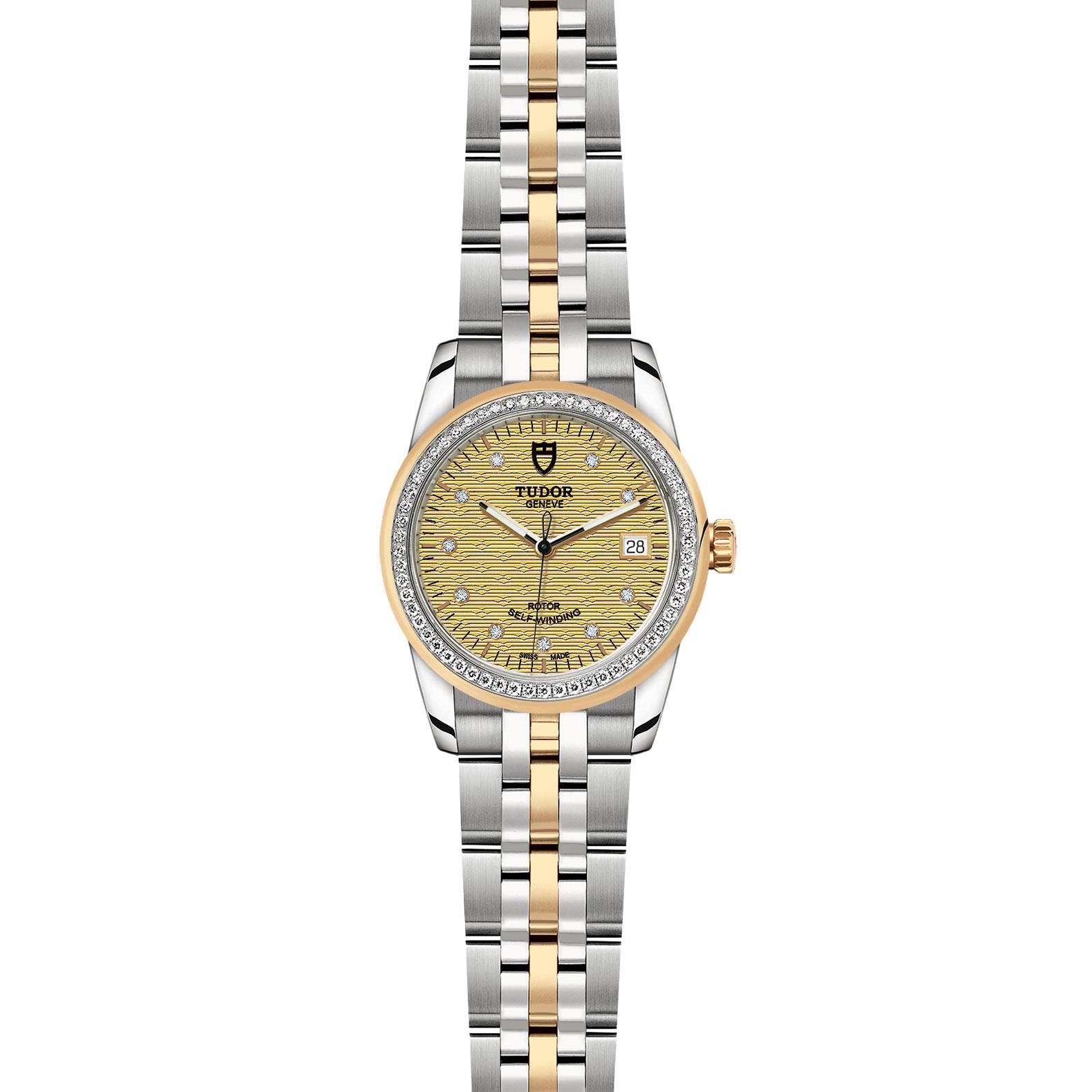 TUDOR Glamour Date M55023 0028 Frontfacing