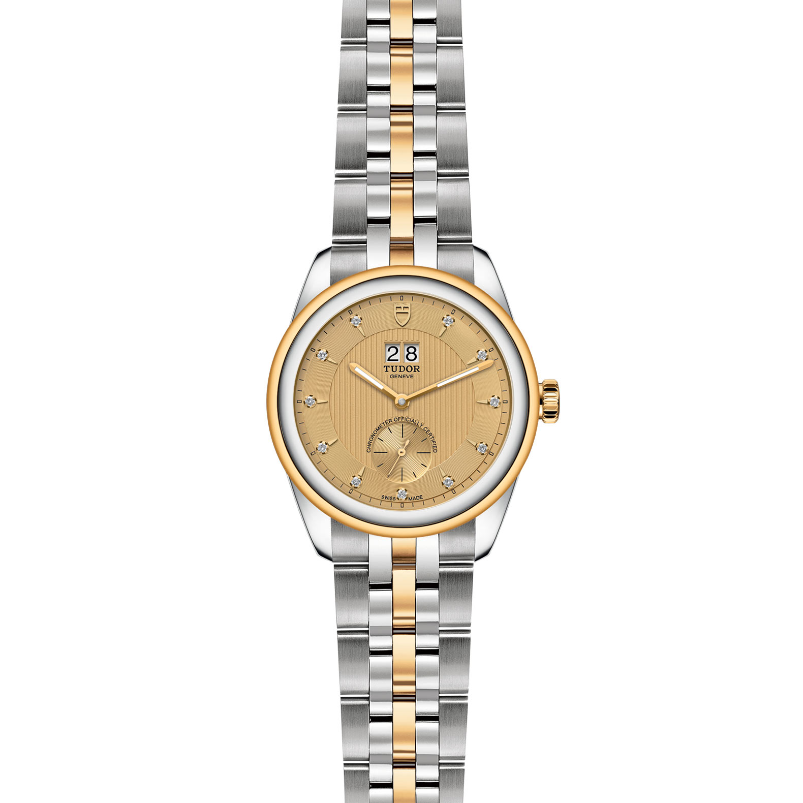 TUDOR Glamour Double Date M57103 0006 Frontfacing