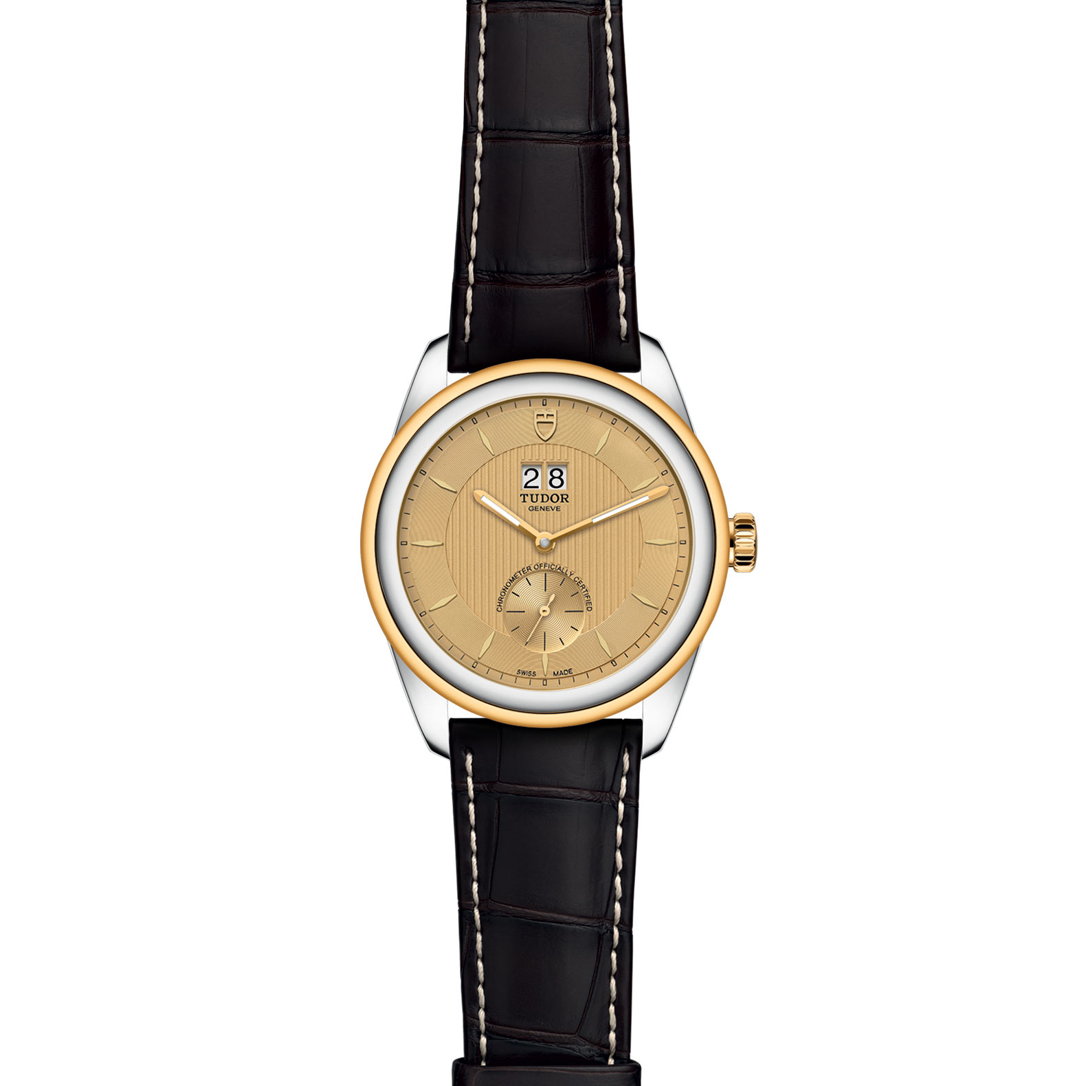 TUDOR Glamour Double Date M57103 0021 Frontfacing
