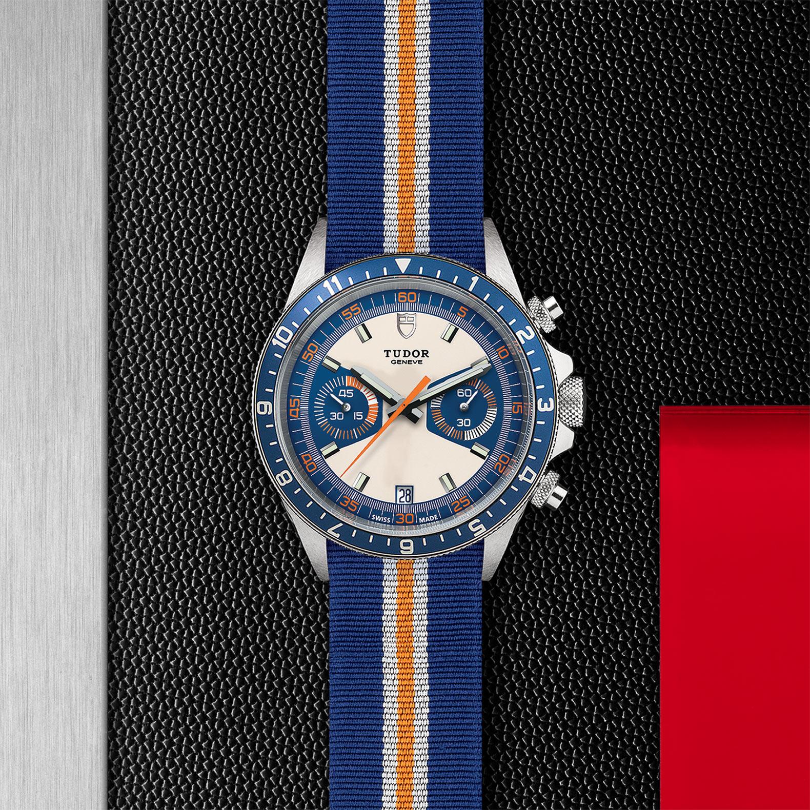 TUDOR Heritage Chrono Blue M70330B 0003 Flatlay