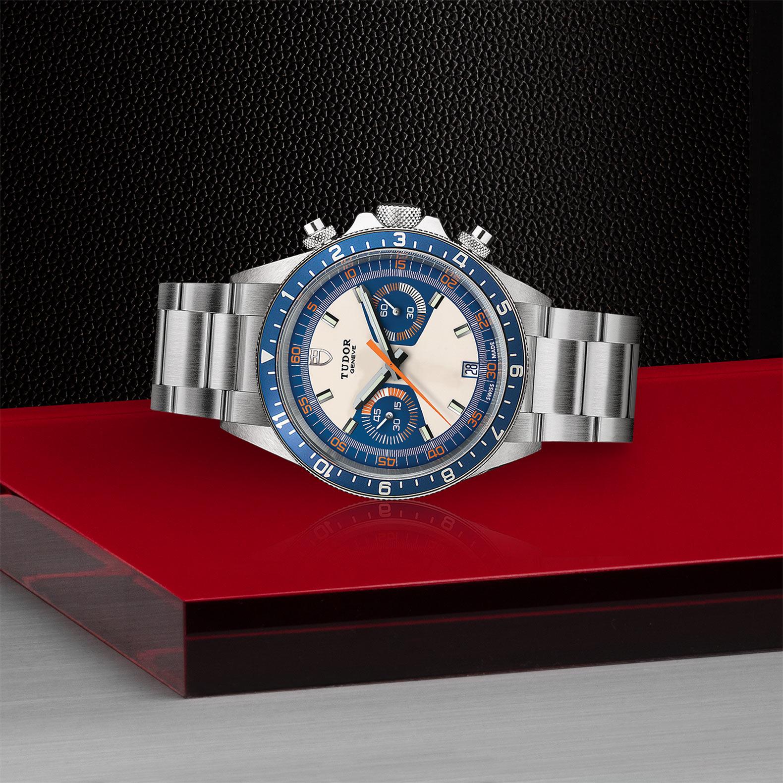 TUDOR Heritage Chrono Blue M70330B 0004 Layingdown