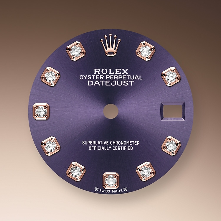 aubergine dial oystersteel and everose gold 50765 g 28