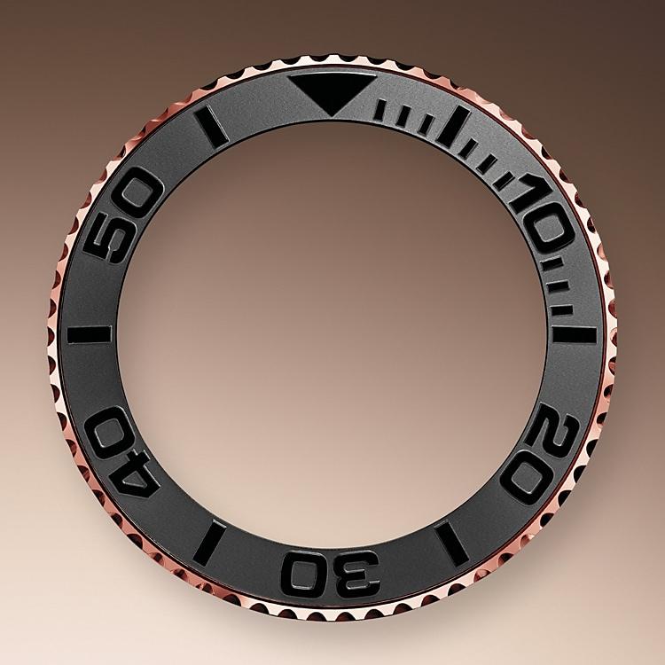bidirectional rotatable bezel everose gold 50552