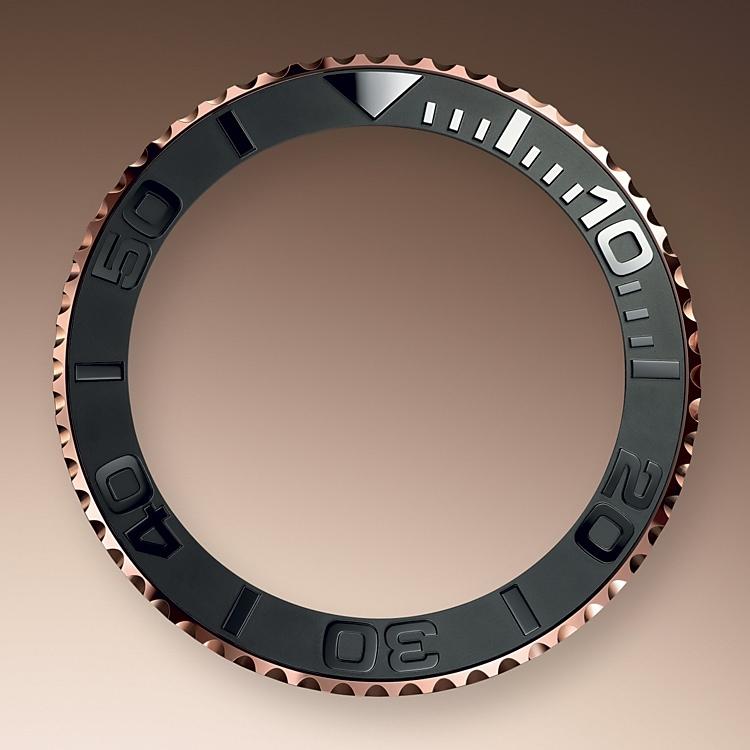 bidirectional rotatable bezel everose gold 51581