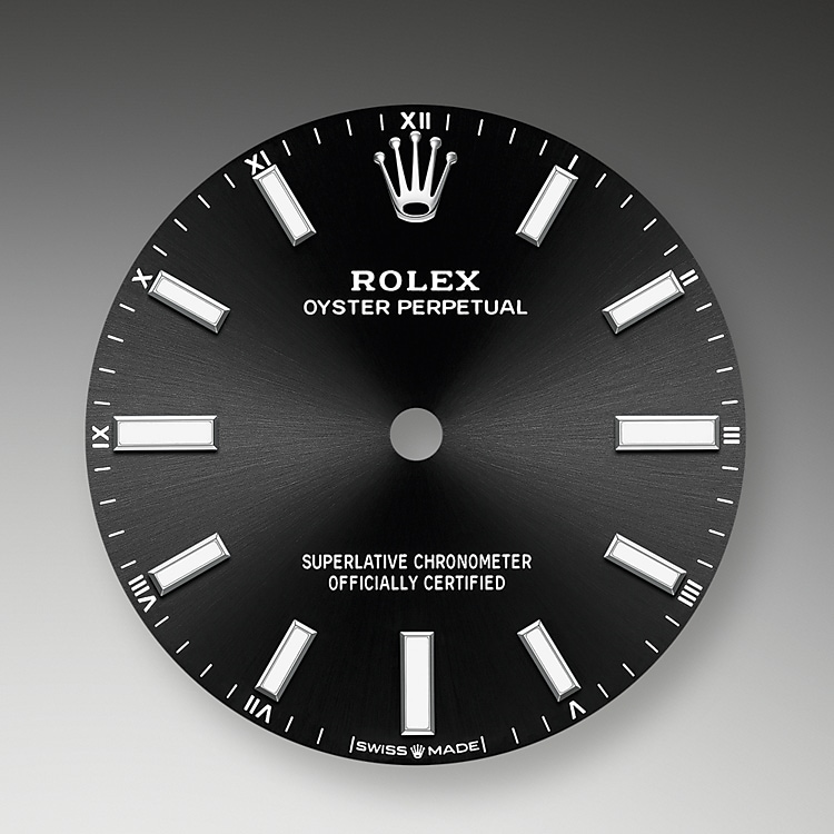 bright black dial oystersteel 51801 g 34