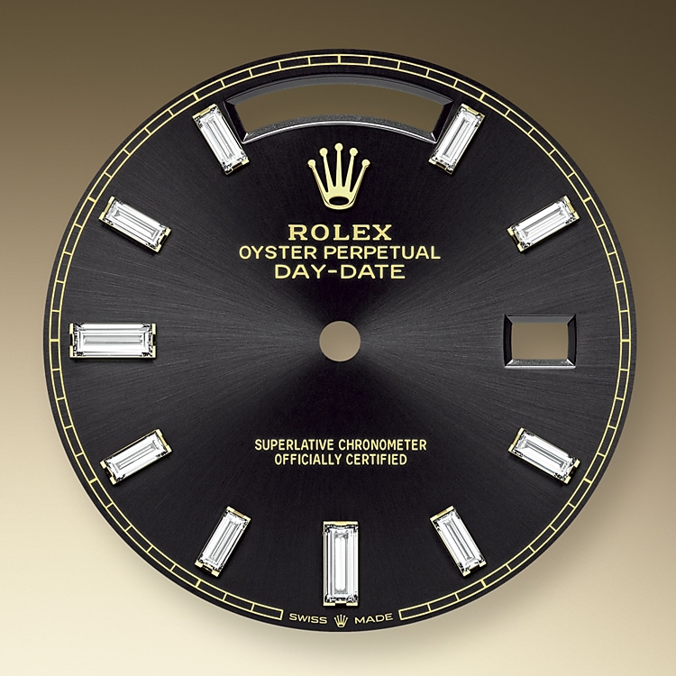 bright black dial yellow gold and diamonds 46158 y 40