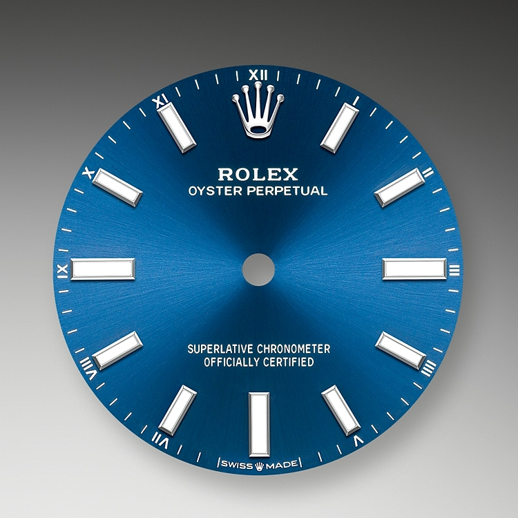 bright blue dial oystersteel 51802 g 34
