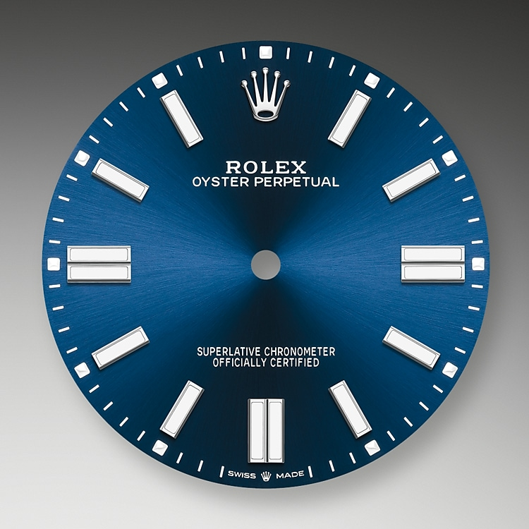bright blue dial oystersteel 52093 g 41