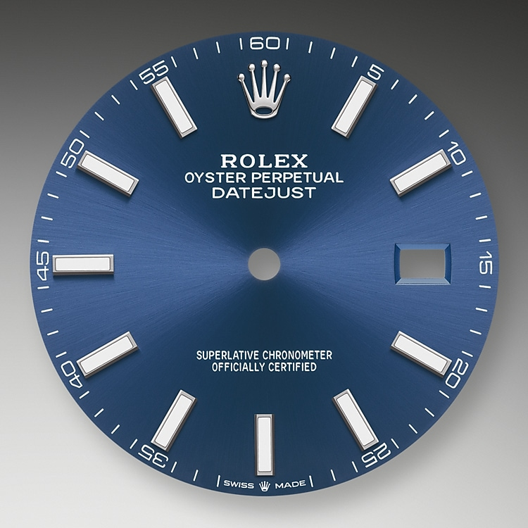 bright blue dial oystersteel and white gold 50645 g 41
