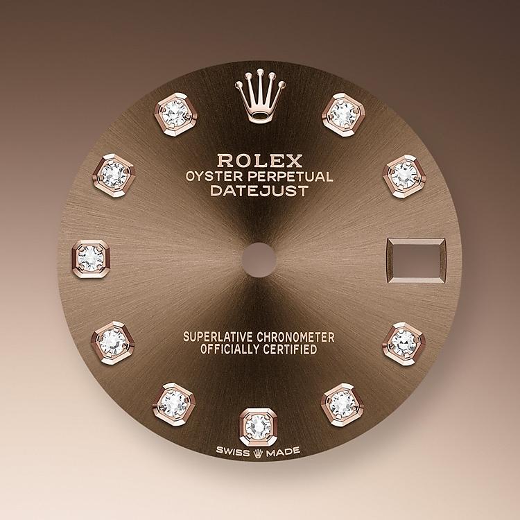 chocolate dial everose gold and diamonds 50976 p 31