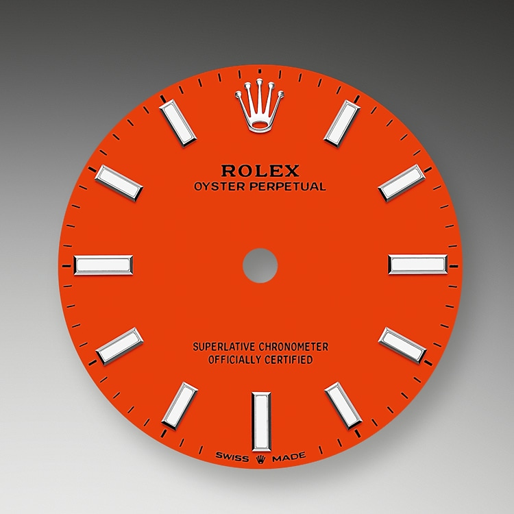 coral red dial oystersteel 52177 g 31