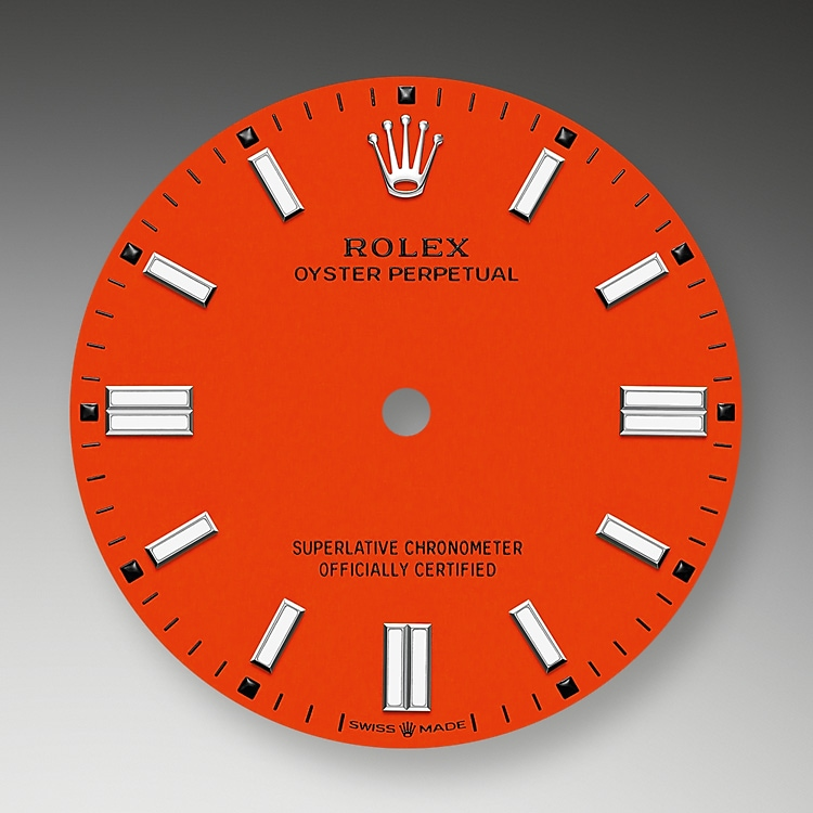coral red dial oystersteel 52181 g 36