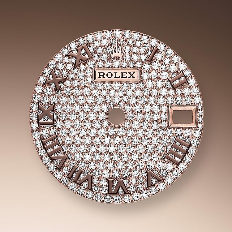diamond paved dial everose gold and diamonds 51206 p 28