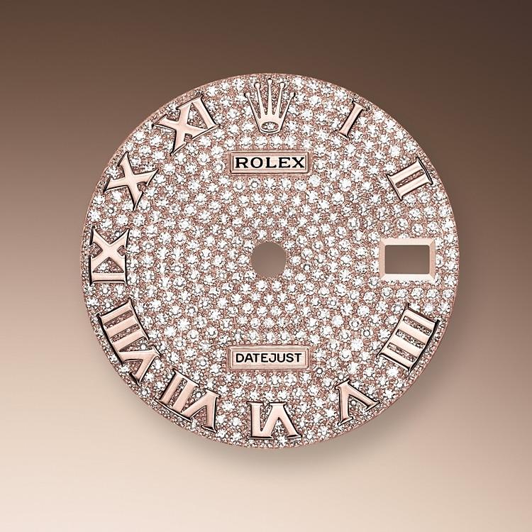 diamond paved dial everose gold and diamonds 51213 p 34