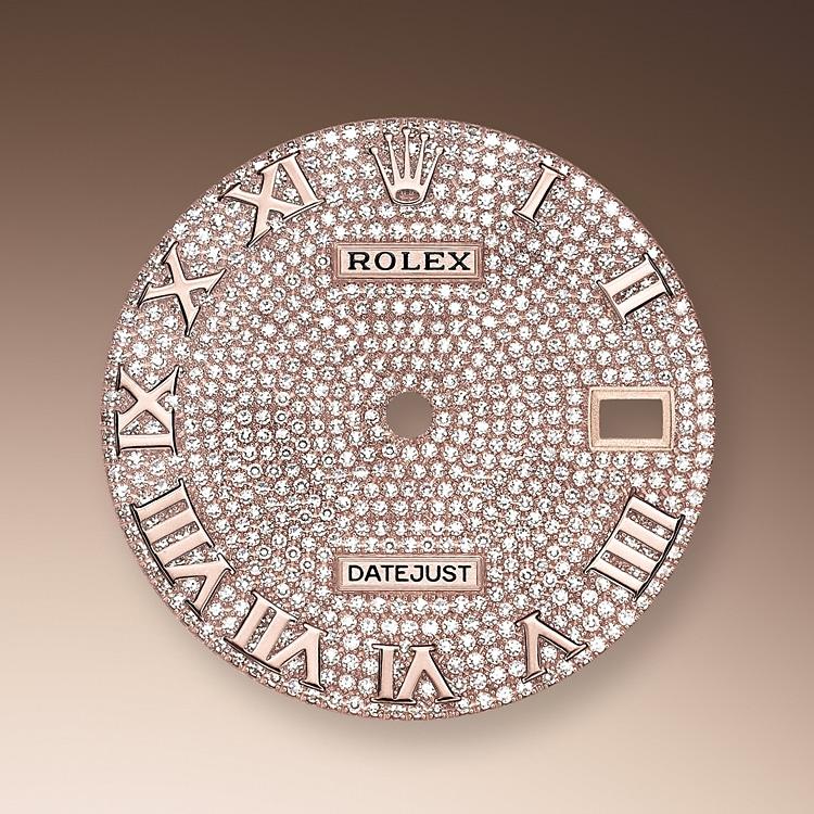 diamond paved dial everose gold and diamonds 51216 p 39