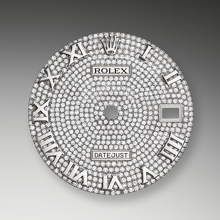 diamond paved dial white gold and diamonds 50628 g 39
