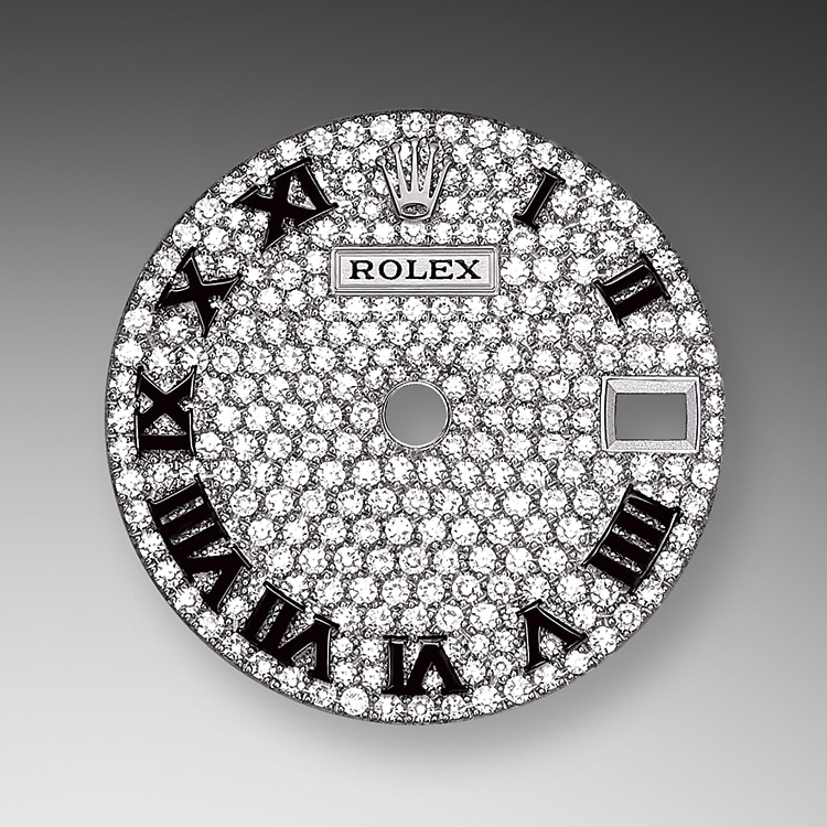 diamond paved dial white gold and diamonds 52100 g 28
