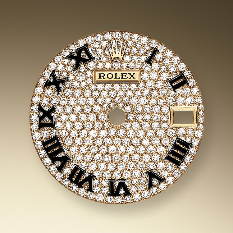 diamond paved dial yellow gold and diamonds 51207 y 28