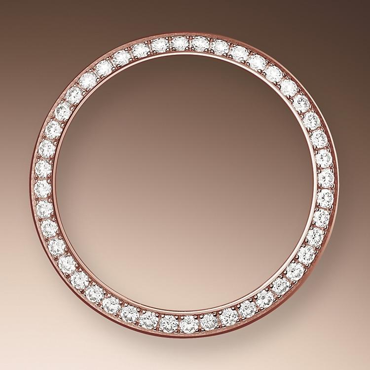 diamond set bezel everose gold and diamonds 50357