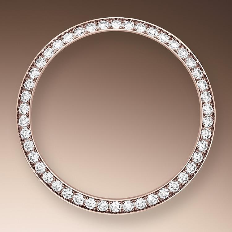 diamond set bezel everose gold and diamonds 50604