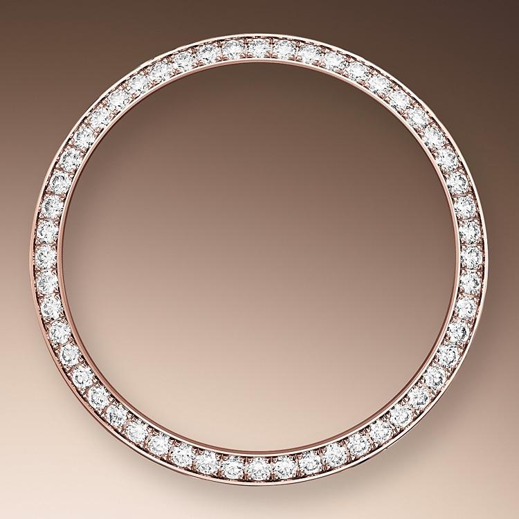 diamond set bezel everose gold and diamonds 50911