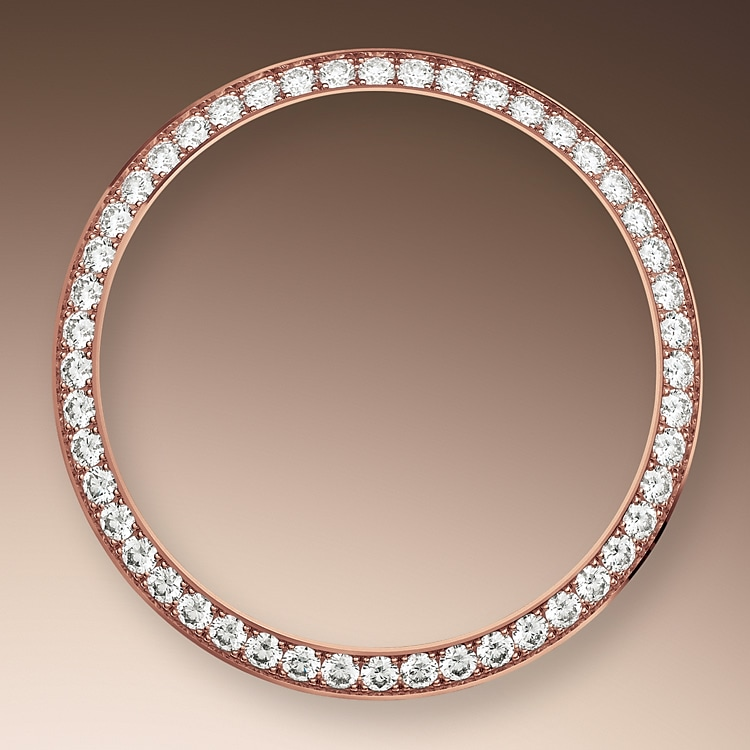diamond set bezel everose gold and diamonds 51162
