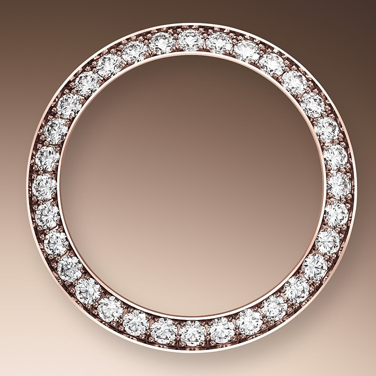 diamond set bezel everose gold and diamonds 51211