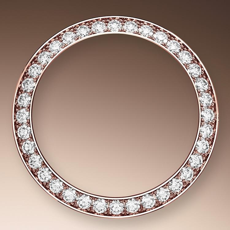 diamond set bezel everose gold and diamonds 51215