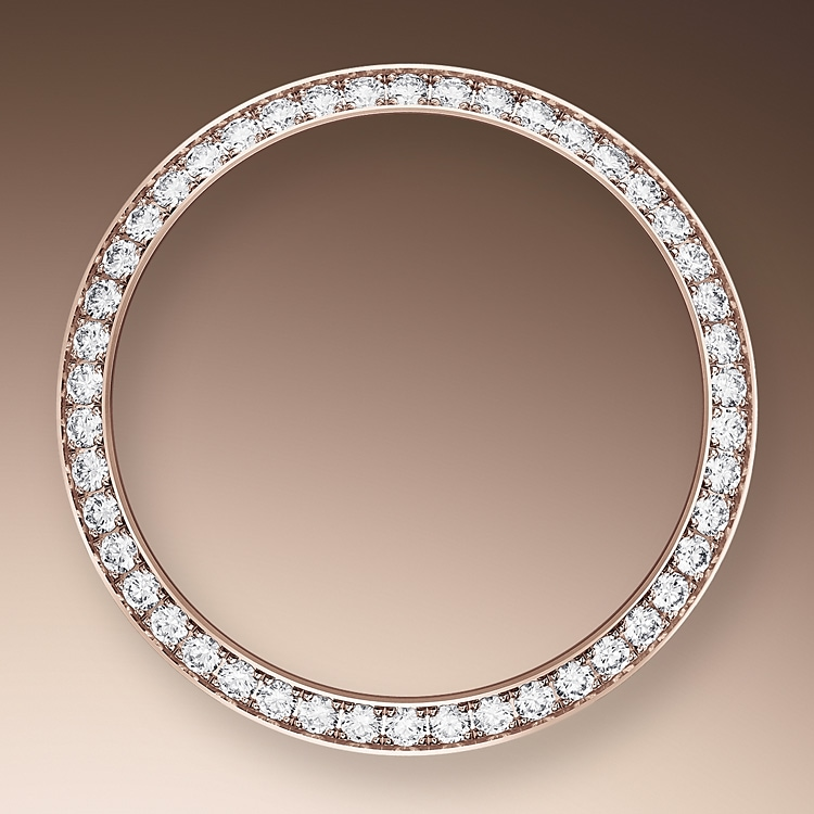 diamond set bezel oystersteel  everose gold and diamonds 51400