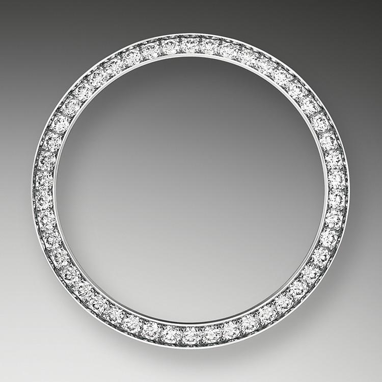 diamond set bezel oystersteel  white gold and diamonds 50781