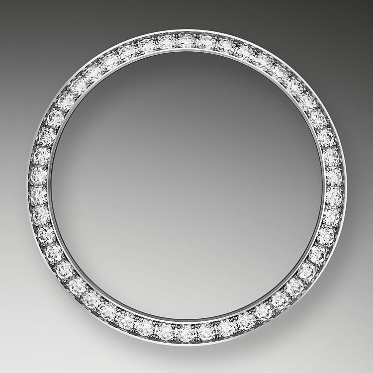 diamond set bezel oystersteel  white gold and diamonds 50788