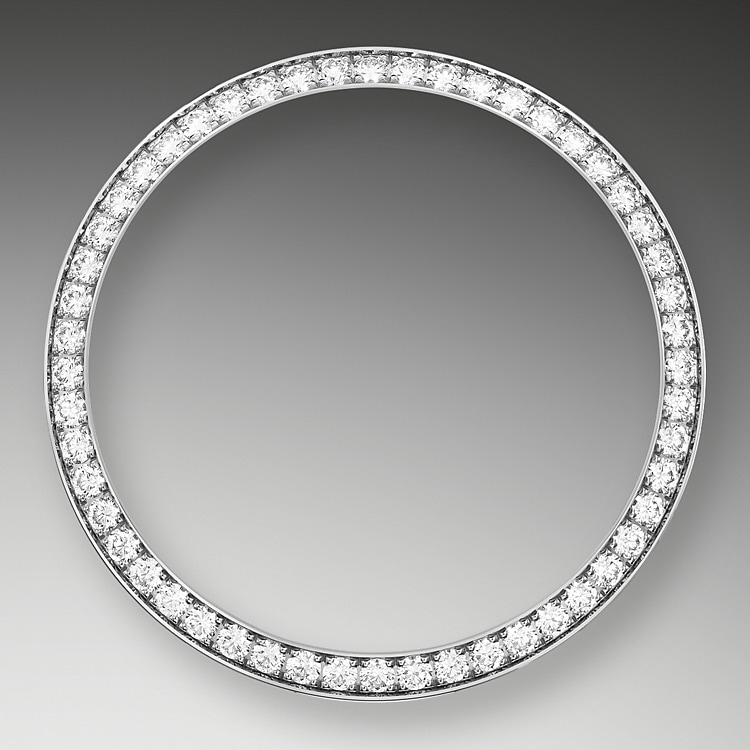 diamond set bezel oystersteel  white gold and diamonds 50804