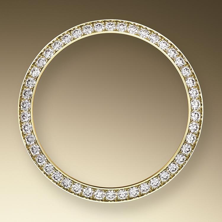 diamond set bezel oystersteel  yellow gold and diamonds 50593