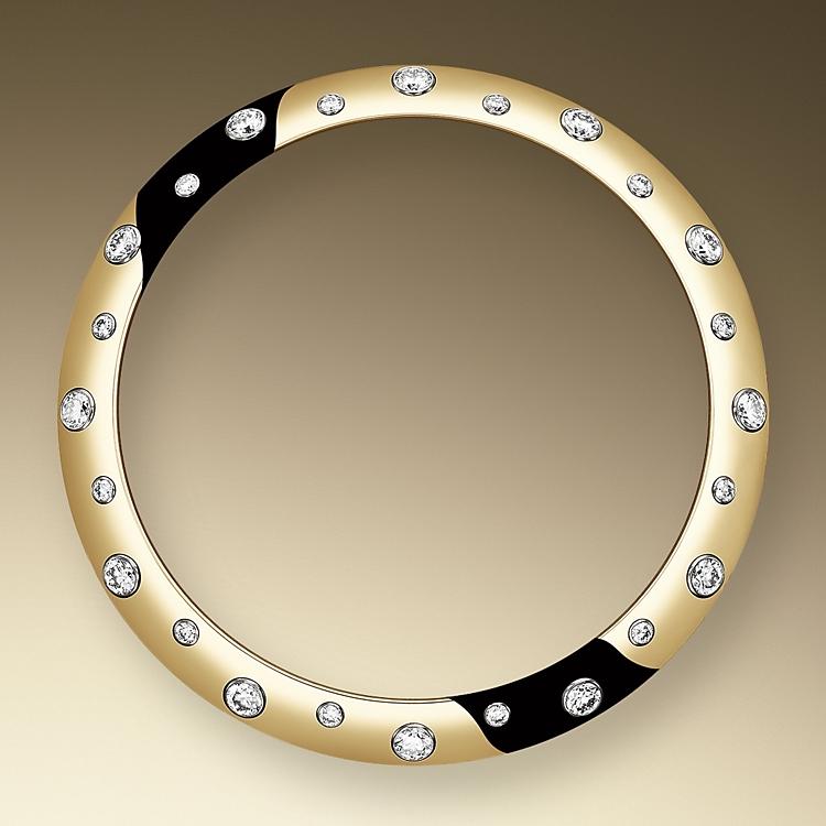 diamond set bezel oystersteel  yellow gold and diamonds 50731