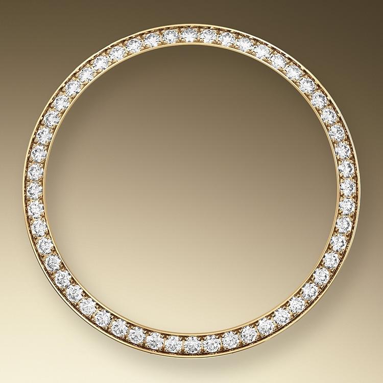 diamond set bezel oystersteel  yellow gold and diamonds 50803
