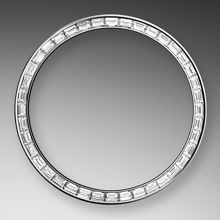 diamond set bezel platinum and diamonds 46458