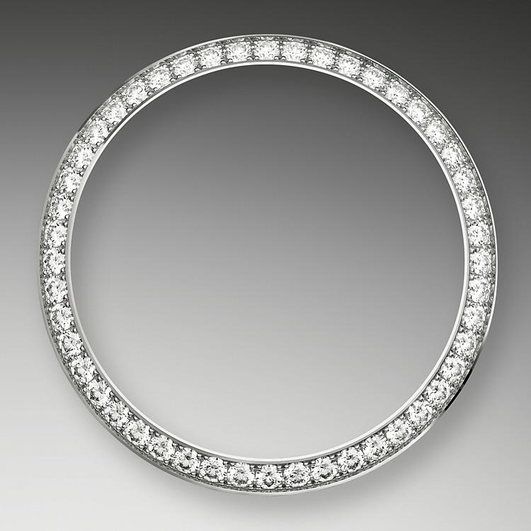 diamond set bezel white gold and diamonds 46455